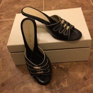 Cole Haan Women's Shoes Slides w/ Kitten Heel EUC